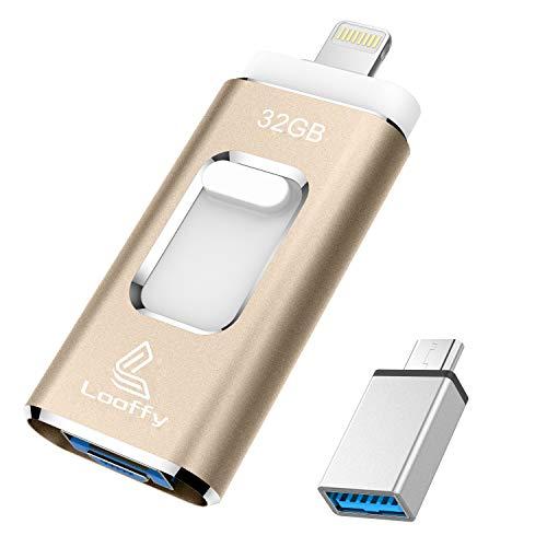 USBメモリ フラッシュメモリー フラッシュドライブ フラッシュディスクiPhone対応USB3.0 Type C Lightning 32GB小型 高速 USBメモリー 一本三役 フラッシュドライブ外付け バックアップ 日本語説明書付き