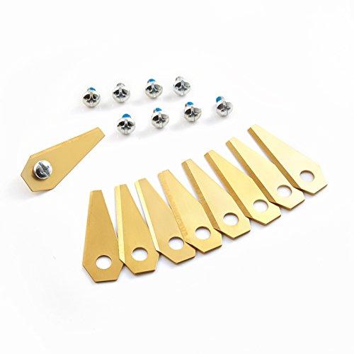 Lokyee TITAN 30x Ersatzmesser extrahart für Bosch Indego Titan-Karbid beschichtet 2-seitig - wendbar, passend für alle Indego - 800, 1000 1200, 350, 400 und 450, einschl. Connect