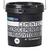 CEMENTEC Microcemento listo al uso FINO Ready to use (12 kg, Negro)