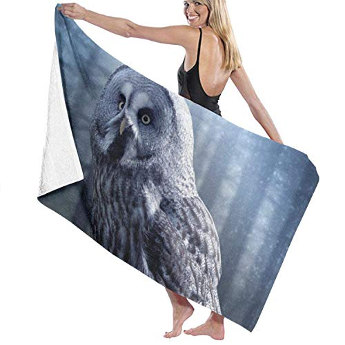 Beautiful Owl Quick Drying Beach Towels, Personality Bath Towel,Towels Beach Blanket for Boating, Pool, Beach,and Travel. (32 X 52 Inch)