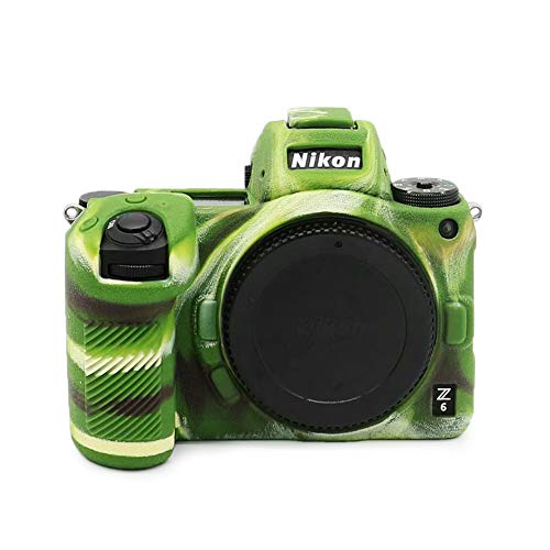 kinokoo Silikon-Schutzhülle kompatibel für Nikon Z6 Z7 Schutzhülle (Tarnmuster, Anti-Rutsch-Textur)