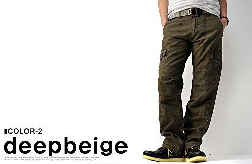 (フラグオンクルー)FLAGONCREWメンズベルト付バックツイル2WAYレングスカーゴパンツクロップドパンツ/B5Z/Ldeepbeige