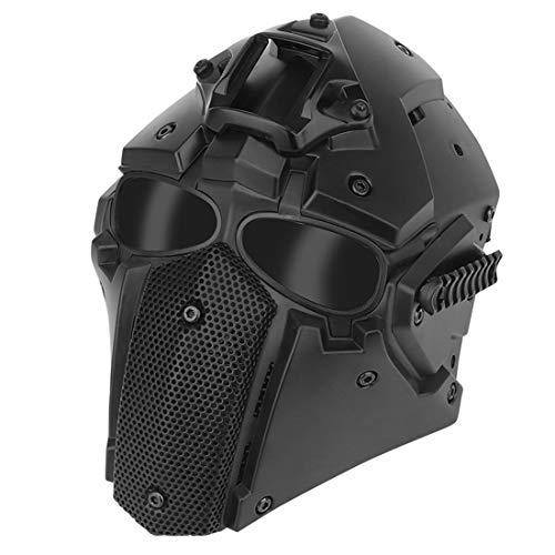 EAYOK Casco táctico para airsoft con máscara y gafas de protección, transpirable, para airsoft CQB Airsoft Paintball Nerf CS