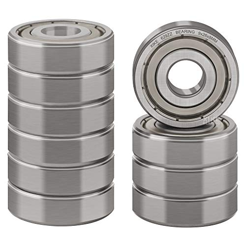 XiKe 10 Pcs 629ZZ Double Metal Seal Bearings 9x26x8mm, Pre-Lubricated and Stable Performance and Cost Effective, Deep Groove Ball Bearings.