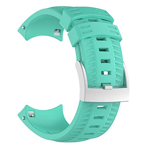 Classicase Correa de Reloj Compatible con Suunto 9, Silicona Banda de Reemplazo Pulsera (Pattern 1)
