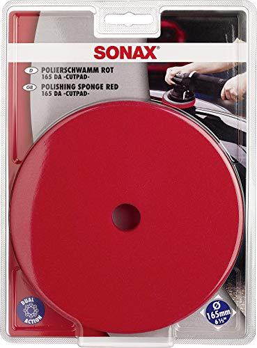 SONAX ExzenterPad hart 165 DA (1 Stück) Verwendung im ersten Arbeitsschritt mit Schleifpolitur zur Kratzerentfernung | Art-Nr. 04934410