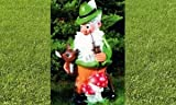 Gartenzwerg Wichtel Figur Forstmeister mit Reh 89 cm