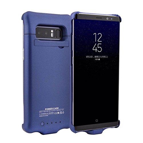 YFish Carcasa Batería Portátil Banco de Energía Recargable Fundo Magnético de Móvil Teléfono Batería Externa 5200mAh para Samsung Galaxy Note8 – Azul