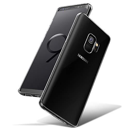 NEW'C Cover Compatibile con Samsung Galaxy S9, Custodia Gel Trasparente Morbida Silicone Sottile TPU [Ultra Leggera e Chiaro]