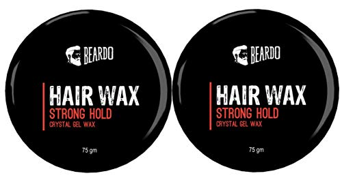 Beardo Hair Wax, Strong Hold, Crystal Gel Wax (Pack of 2)
