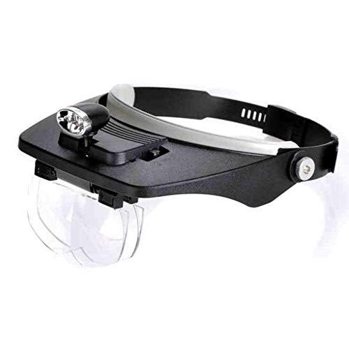WSC Hochentwickelte Technologie Brillenträger mit hoher Leistung Brillenkopf mit LED-Leuchten 5X HD Ältere Personen Lesen Ältere Presbyopie Handy-Reparatur Multifunktionsgerät