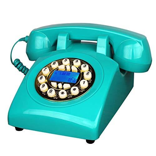 TRTT Línea Fija Retro Europea clásica Línea Fija doméstica, teléfono Fijo Retro clásico 60S, 23 * 13.5 * 12cm, Disponible en una Variedad de Colores y Estilos (Color: Azure-a)