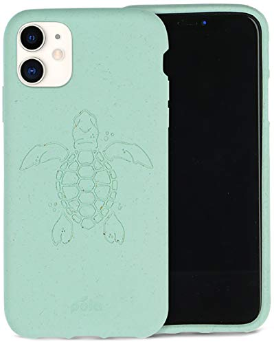 Pela - Funda para el iPhone 11-100% compostable - Biodegradable - Hecho con Plantas - Cero residuos (11 Ocean Turtle)