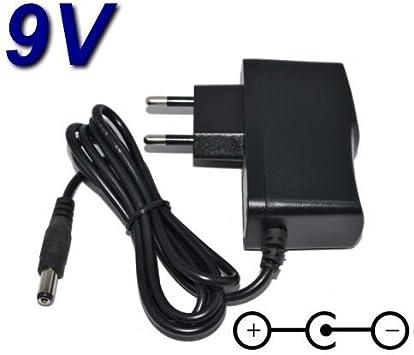 TOP CHARGEUR * Adaptador Alimentación Cargador Corriente 9V Reemplazo Recambio Pedal de Efectos Vocal Effects Processor Boss VE-20 VE20 PSA-240