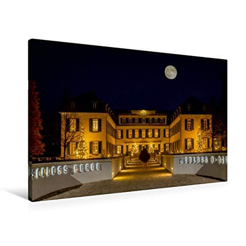 Premium - Lienzo de tela (90 x 60 cm, horizontal), diseño de castillo de montañas en la sombra de la luna Gelsenkirchener SigSigSigno (CALVENDO Orte);CALVENDO Orte