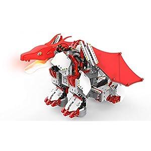 UBTECH JIMU Robot Mythical Series: Firebot Kit/ App-Enabled Building & Coding STEM Robot Kit (606 Pcs), Red, Model…