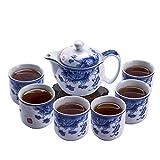 ufengke 7 Piezas Juego de Té Chino Kung Fu,Juego de Té de Porcelana...