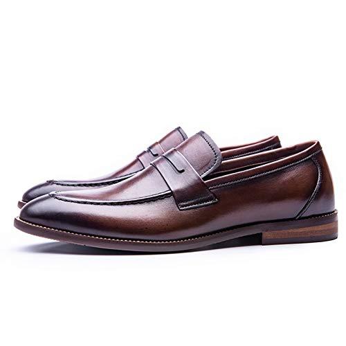Hombre Mocasines y Mocasines - Cuero Casual Trabajo Cómodo Zapatos para Caminar Vestido Zapatos Formales Muy Adecuado para Boda Oficina Negocios Trabajo Noche Fiesta Casual Conducción