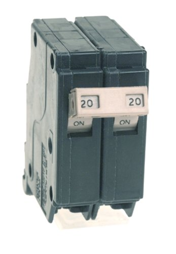 Connecticut Electric Cutler Hammer CH220 Circuit Breaker, 2-Pole 20-Amp, COLOR
