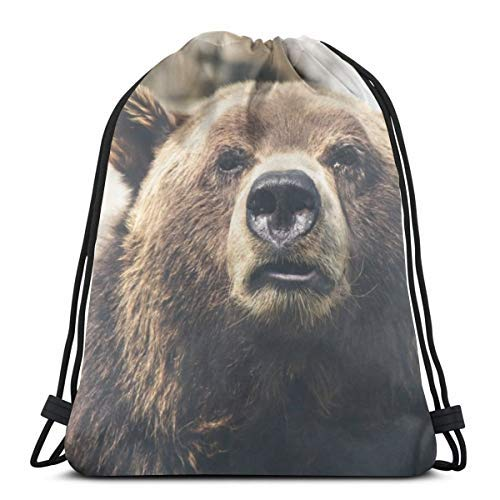 XCNGG Bundle Backpack Outdoor Shopping Knapsack Cute Bear Rope-Pulling Bag Sports Bag Suitable for Fitness Shopping and Yoga