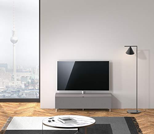 SPECTRAL Just-Racks TV-Lowboard JRB1304 mit Stoffklappe inkl. TV-Halterung, Breite 130 cm, Grey