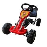 vidaXL Go Kart con Pedali Sedile Regolabile Rosso Bambini Giocattolo Esterno