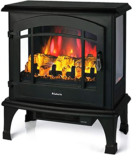 TURBRO Suburbs TS23 Electric Fireplace Heater, Freestanding Fireplace Stove with...