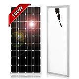 DOKIO Pannello Solare 100W 12V Monocristallino Fotovoltaico Impianto Camper Casa...