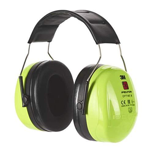 3M Peltor Optime III Kapselgehörschutz, Kopfbügel, Hi-Viz, SNR 35 dB, hohe Sichtbarkeit, 1 Stück, grün