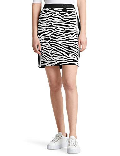 Marc Cain Sports Damen MS 71.14 M11 Rock, Mehrfarbig (Black and White 910), 42 (Herstellergröße: 5)