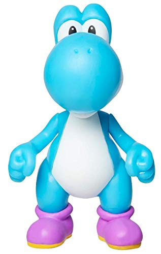 SUPER MARIO Action Figure 2.5 Inch Light Blue Yoshi Collectible Toy