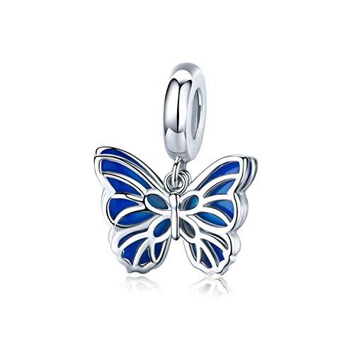 Charm in argento Sterling 925 a forma di farfalla, libellula, per braccialetti Pandora e Argento, colore: Farfalla B., cod. CC-1445