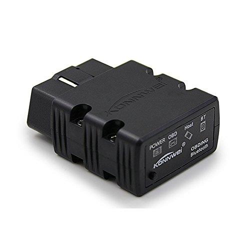 Outil de diagnostic auto KONNWEI KW902 Mini ELM327 - Bluetooth sans fil - OBD-II - Compatible avec Android et Windows PC