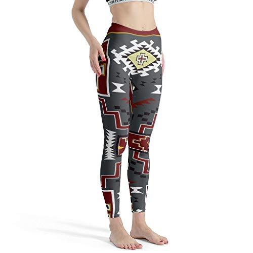 Zhcon - Pantaloni Elasticizzati da Donna, Stampati, da Yoga, da Corsa, da Indossare Tutti i Giorni Bianco XXXL