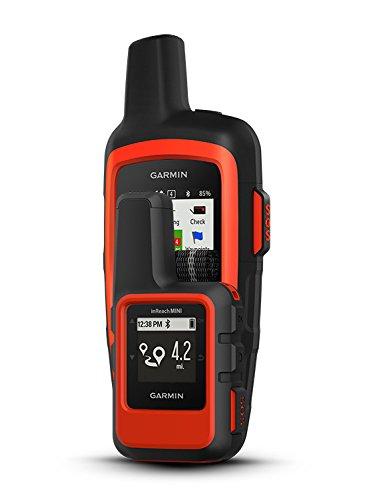Garmin inReach Mini (Orange) Communicator Bundle | +PlayBetter Portable Charger & GPS Tether | Belt, Carabiner Clip | Hiking GPS, Emergency, Weather, Messaging