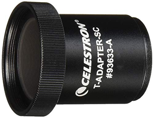 Celestron T-Adapter with SCT 5, 6, 8 with 9.25, 11, 14, Black (93633-A)