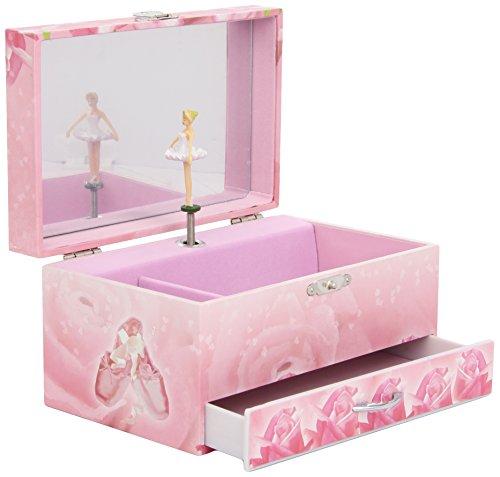 Trousselier - Ballerina - Musikschmuckdose - Spieluhr - Ideales Geschenk für junge Mädchen - Phosphoreszierend - Leuchtet im Dunkeln - Musik Nocturne von Chopin - Farbe rosa