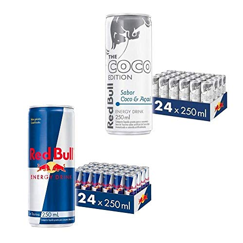 Kit Red Bull Energy Drink e Red Bull Coco - 250 ml - 48 latas