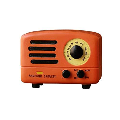 Kreative Spieluhr Retro Radio Music Uhrwerk Harz Musik for Geburtstagsgeschenke Jungen und Mädchen Freundinnen Freundinnen 3.5x2.7x2.3 in spieluhr Geschenk (Color : Orange, Größe : Music:Meeting)