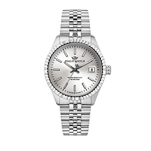 Philip Watch Orologio da uomo, Collezione CARIBE, Swiss Made, in acciaio -...