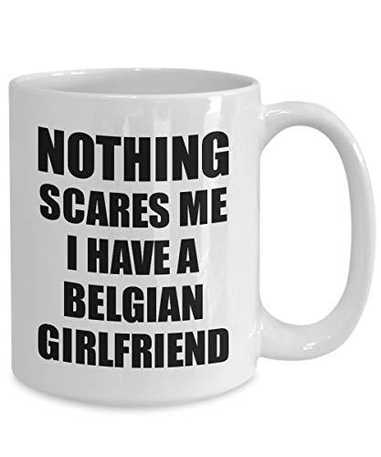 Belgische vriendin beker grappig Valentijnsgeschenk voor Bf Mijn vriend hem België Gf Gag Niets macht Mir angst koffie thee mok