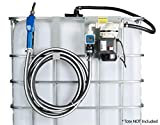 ArmorBlue TD1 Pump Kit 115v for Diesel Exhaust Fluid (DEF) | 6+ Gallons per Minute | Tote and Drum Compatible | Includes Coupler, Check Valve, Flow Meter and Stainless Steel Auto Nozzle