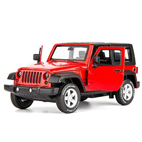 TGRCM-CZ Diecast Model Cars Toy Cars, Wrangler 1:32 Scale Alloy Pull Back Toy Car with Sound and Light Toy for Girls and Boys Kids Toys (Red)