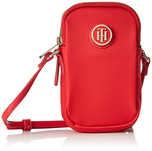 Tommy Hilfiger Damen Poppy Mini Crossover Umhängetasche, Rot (Tommy Red), 4x16x9 cm