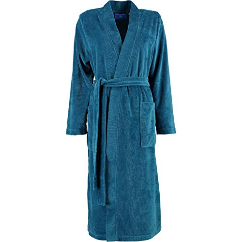 Morgenstern Bademantel Damen Kimono Theresa Petrol - 12 XL