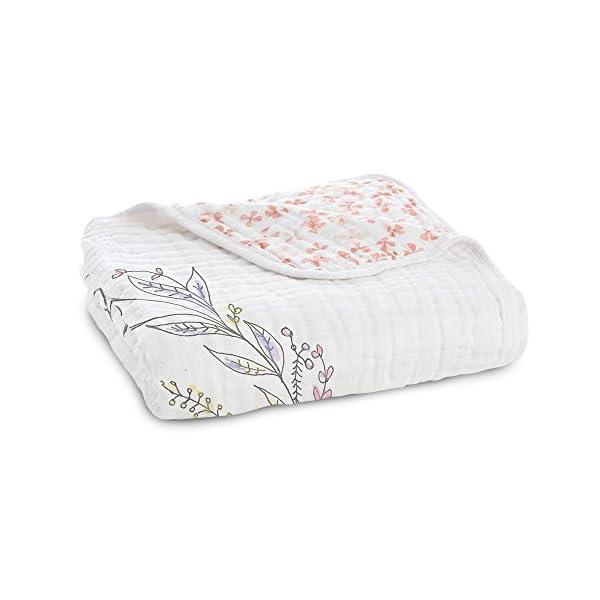 Aden + Anais Dream Blanket | Muslin Baby Blankets for Girls & Boys | Ideal Lightweight Newborn Nursery & Crib Blanket | Unisex Toddler & Infant Bedding | Shower & Registry Gift