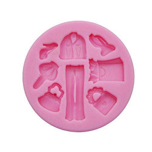 DeColorDulce Linge et Couvercle Moule 3D, Silicone, Rose, 16 x 10 x 3 cm