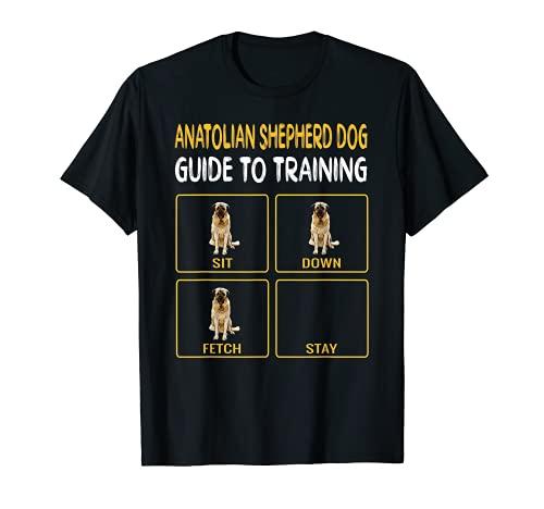 Funny Anatolian Shepherd Dog Guide To Training Dog Obedience T-Shirt