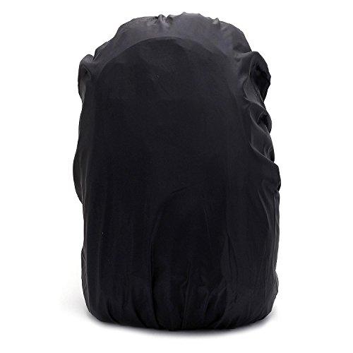 Pinzhi, Rivestimento per zaino da escursionismo, in nylon, resistente all'acqua e di alta qualità, nero