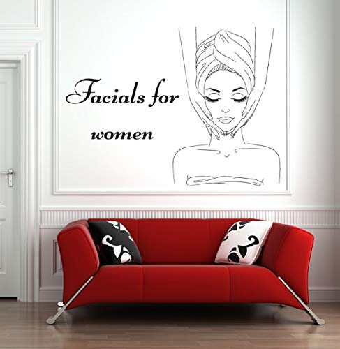 Spa Sign Gesichts-Wandaufkleber Zitat Maske Hautpflege Beauty Salon Körpermassage Vinyl Aufkleber Home Decor